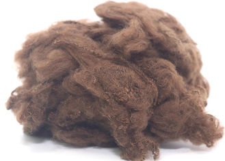 China Brown Virgin PSF Polyester Staple Fiber 7D / 15D AAA GRADE Friction Resistant supplier