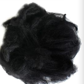 China Black Reliance Polyester Staple Fibre 1.2D X 38MM For Non - Woven Fabric supplier