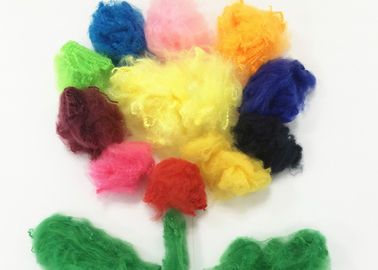 China Hollow Conjugated Polyester Fiber , Colorful Spinning Polyester Hollowfibre supplier