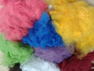 Solid Recycled Polyester Staple Fiber , High Tenacity Siliconized Polyester Fibre
