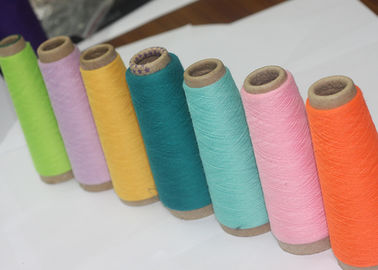 Garment Weaving Dyed Polyester Yarn , Multiple Colour Polyester Core Spun Yarn