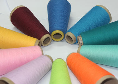 China Dope Dyed Spun Polyester Yarn Eco Friendly For Knitting Gloves Fabric factory