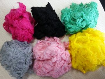 China High Tenacity Colored Viscose Fiber , Viscose Rayon Fiber Friction Resistant factory